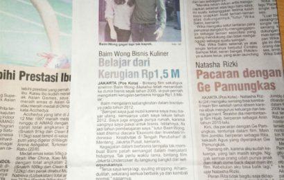 Bisnis Artis Baim Wong Pernah Rugi 1.5M